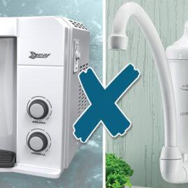 imagem de comparação entre um prificador e um filtro de água